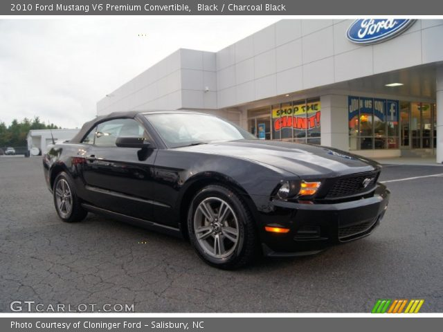 2010 ford mustang v6 premium convertible in black click to see large. Black Bedroom Furniture Sets. Home Design Ideas