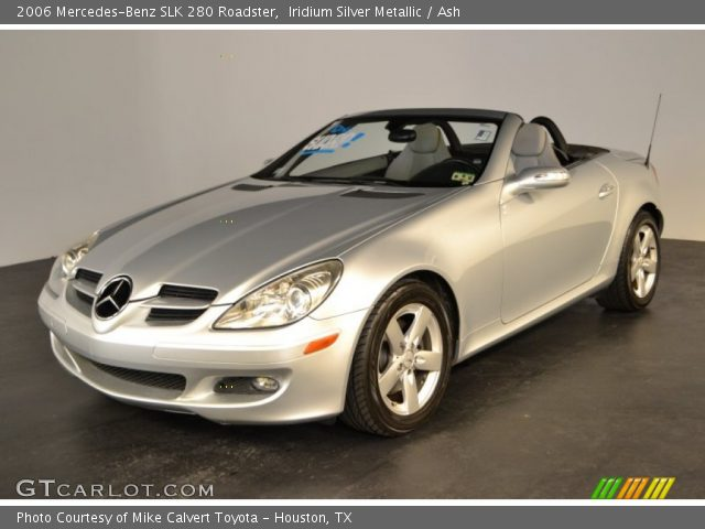 iridium silver metallic 2006 mercedes benz slk 280 roadster ash interior. Black Bedroom Furniture Sets. Home Design Ideas