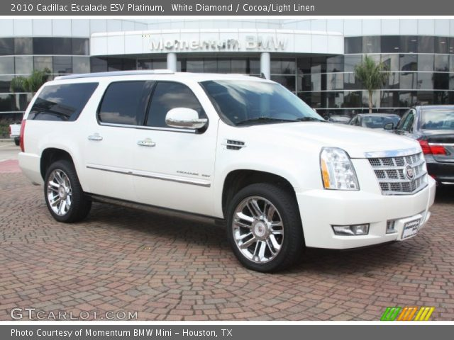 white diamond 2010 cadillac escalade esv platinum. Black Bedroom Furniture Sets. Home Design Ideas