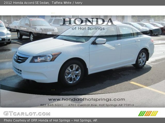 2012 Honda Accord SE Sedan in Taffeta White