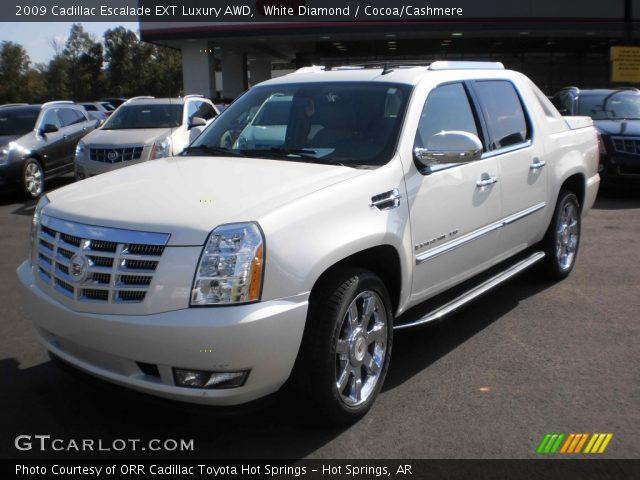 White Diamond 2009 Cadillac Escalade Ext Luxury Awd