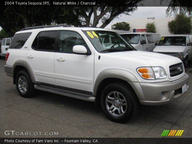 natural white 2004 toyota sequoia sr5 charcoal interior vehicle archive. Black Bedroom Furniture Sets. Home Design Ideas