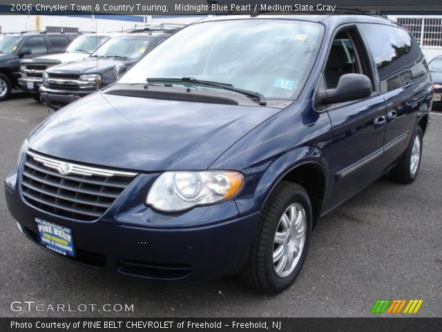 midnight blue pearl 2006 chrysler town country touring medium slate gray interior. Black Bedroom Furniture Sets. Home Design Ideas