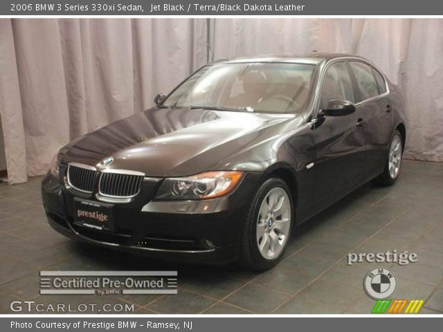 jet black 2006 bmw 3 series 330xi sedan terra black dakota leather interior. Black Bedroom Furniture Sets. Home Design Ideas