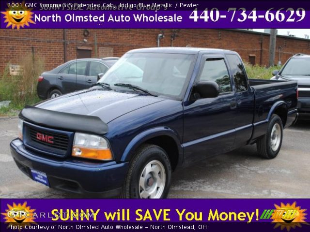 indigo blue metallic 2001 gmc sonoma sls extended cab pewter interior. Black Bedroom Furniture Sets. Home Design Ideas