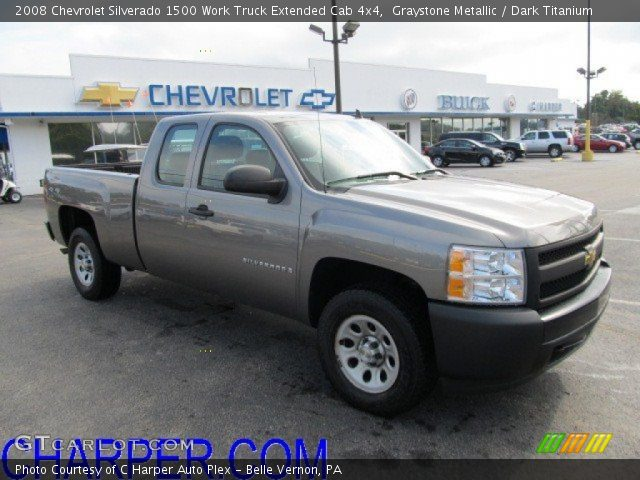 2008 Chevrolet Silverado 1500 Work Truck Extended Cab 4x4 in Graystone Metallic