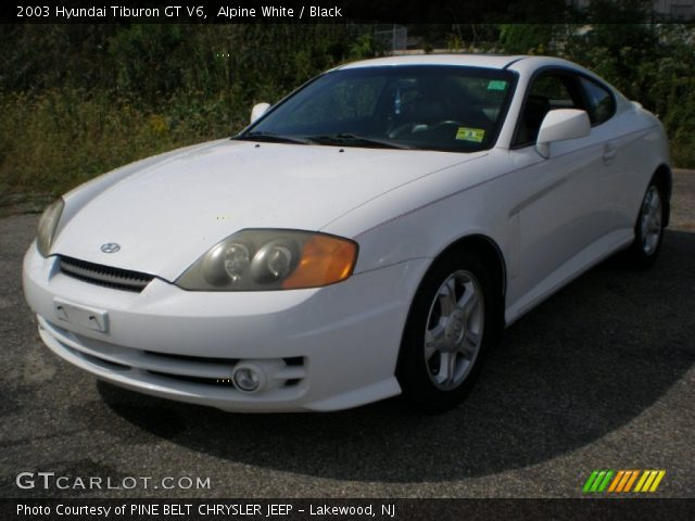 alpine white 2003 hyundai tiburon gt v6 black interior. Black Bedroom Furniture Sets. Home Design Ideas