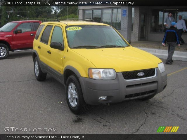 2001 Ford Escape XLT V6 in Chrome Yellow Metallic. Click to see large