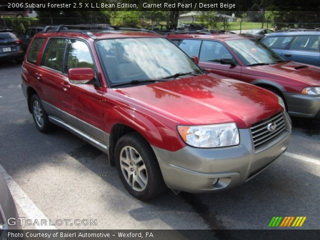 garnet red pearl 2006 subaru forester 2 5 x l l bean edition desert beige interior. Black Bedroom Furniture Sets. Home Design Ideas