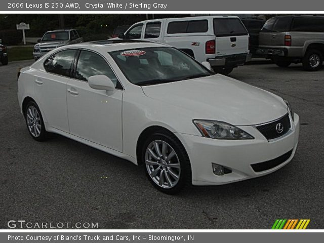 crystal white 2006 lexus is 250 awd sterling gray interior vehicle archive. Black Bedroom Furniture Sets. Home Design Ideas