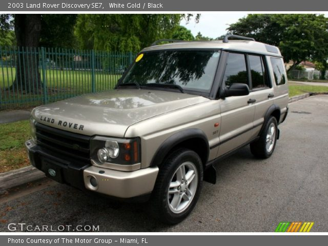 white gold 2003 land rover discovery se7 black interior vehicle archive. Black Bedroom Furniture Sets. Home Design Ideas