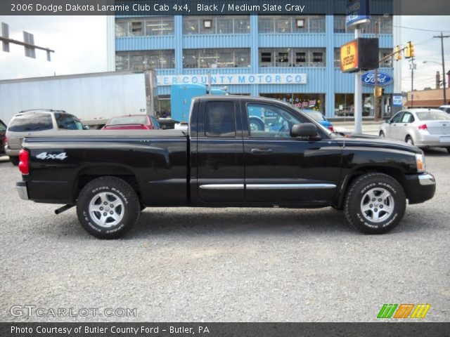 black 2006 dodge dakota laramie club cab 4x4 medium slate gray interior. Black Bedroom Furniture Sets. Home Design Ideas