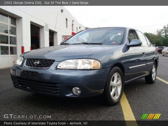 out of the blue 2002 nissan sentra gxe sand beige interior vehicle archive. Black Bedroom Furniture Sets. Home Design Ideas