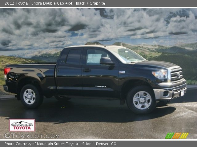black 2012 toyota tundra double cab 4x4 graphite interior vehicle archive. Black Bedroom Furniture Sets. Home Design Ideas