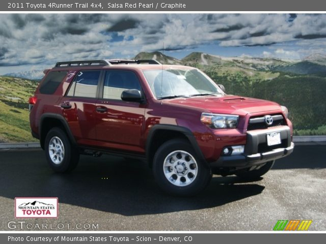 salsa red pearl 2011 toyota 4runner trail 4x4 graphite. Black Bedroom Furniture Sets. Home Design Ideas