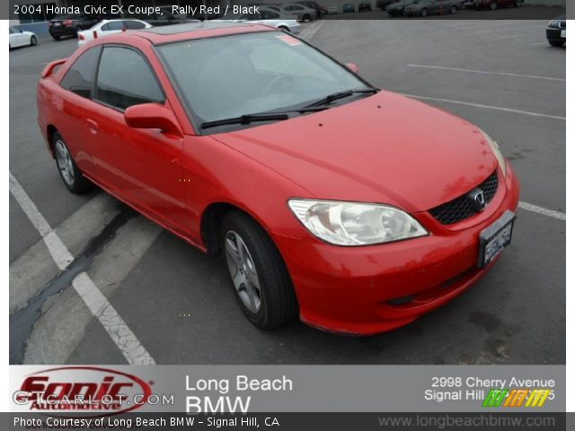 Rally Red 2004 Honda Civic Ex Coupe Black Interior Vehicle Archive 54683907