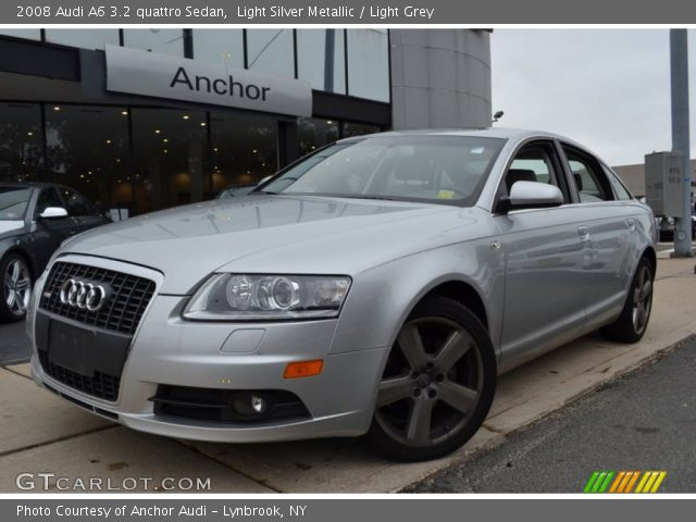 light silver metallic 2008 audi a6 3 2 quattro sedan light grey interior. Black Bedroom Furniture Sets. Home Design Ideas