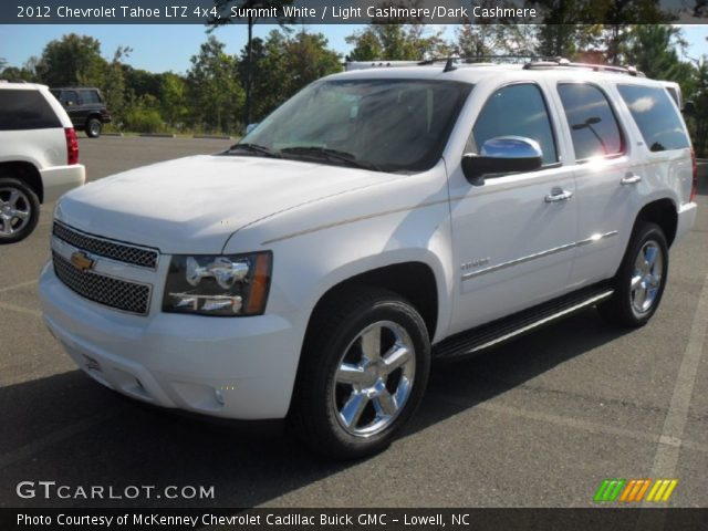 summit white 2012 chevrolet tahoe ltz 4x4 light cashmere dark cashmere interior gtcarlot. Black Bedroom Furniture Sets. Home Design Ideas