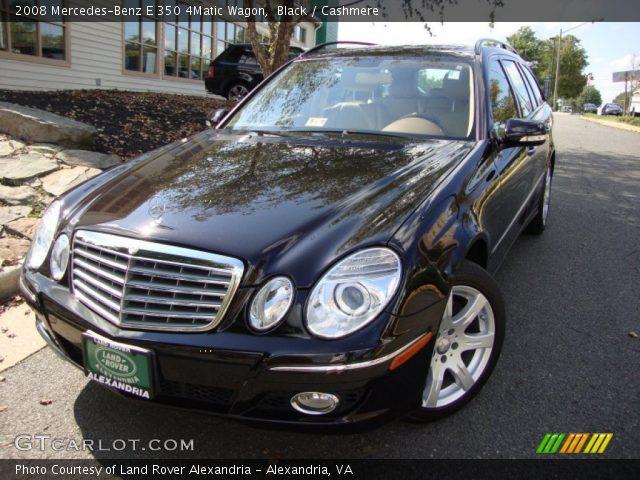 Black 2008 Mercedes Benz E 350 4matic Wagon Cashmere