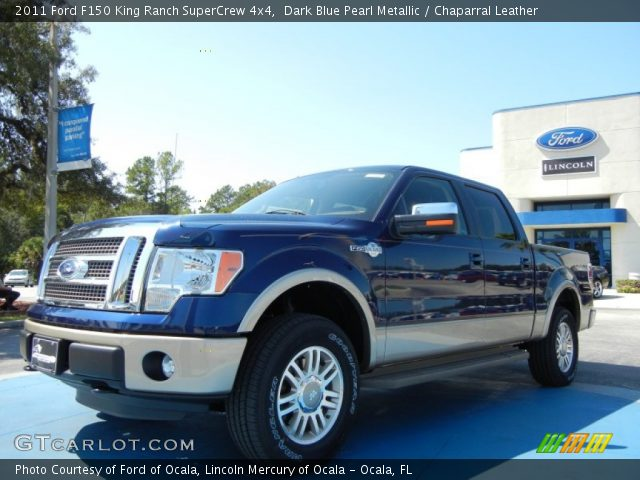 dark blue pearl metallic 2011 ford f150 king ranch supercrew 4x4 chaparral leather interior. Black Bedroom Furniture Sets. Home Design Ideas