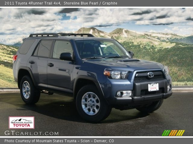 shoreline blue pearl 2011 toyota 4runner trail 4x4. Black Bedroom Furniture Sets. Home Design Ideas