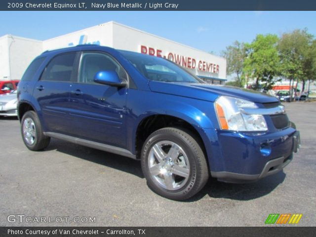 Navy Blue Metallic - 2009 Chevrolet Equinox LT - Light ...