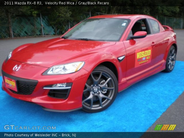 velocity red mica 2011 mazda rx 8 r3 gray black recaro interior vehicle. Black Bedroom Furniture Sets. Home Design Ideas
