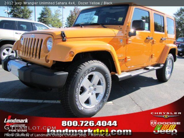 Dozer Yellow - 2012 Jeep Wrangler Unlimited Sahara 4x4 ...