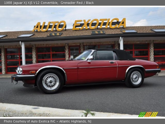 grenadier red 1988 jaguar xj xjs v12 convertible black interior vehicle. Black Bedroom Furniture Sets. Home Design Ideas