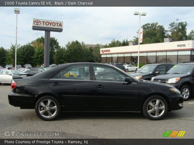 black 2006 toyota camry se v6 dark charcoal interior. Black Bedroom Furniture Sets. Home Design Ideas