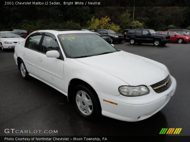 bright white 2001 chevrolet malibu ls sedan neutral. Black Bedroom Furniture Sets. Home Design Ideas