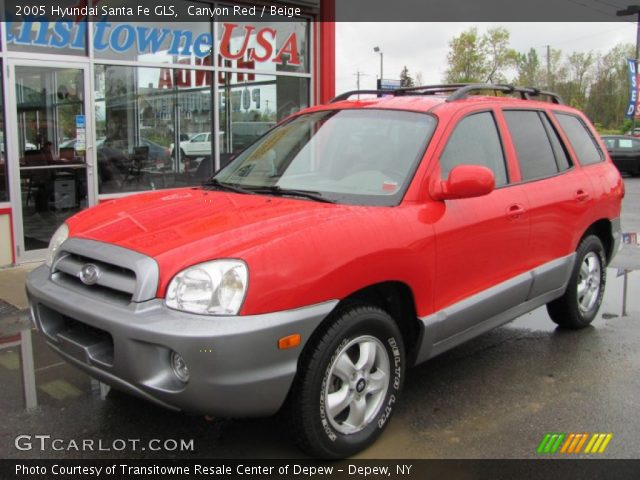 Canyon Red 2005 Hyundai Santa Fe Gls Beige Interior Vehicle Archive 54851618