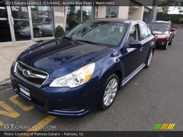 azurite blue pearl 2011 subaru legacy limited warm ivory interior. Black Bedroom Furniture Sets. Home Design Ideas