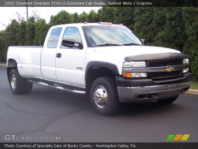 Summit White 2002 Chevrolet Silverado 3500 LS Extended Cab Dually with ...