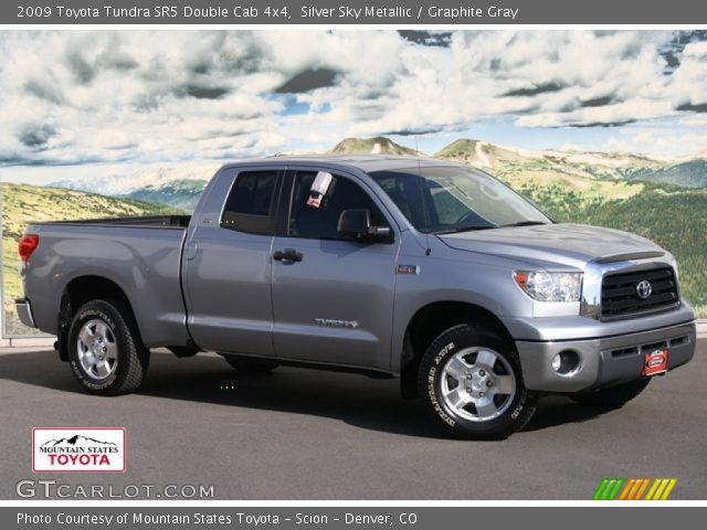 silver sky metallic 2009 toyota tundra sr5 double cab 4x4 graphite gray interior gtcarlot. Black Bedroom Furniture Sets. Home Design Ideas