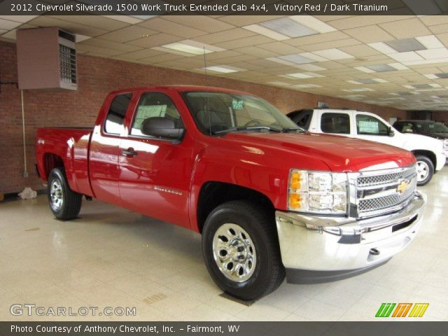 2012 Chevrolet Silverado 1500 Work Truck Extended Cab 4x4 in Victory Red