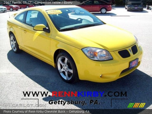 Competition Yellow 2007 Pontiac G5 Gt Ebony Interior