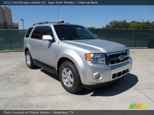 ingot silver metallic 2012 ford escape limited v6 with charcoal black. Cars Review. Best American Auto & Cars Review