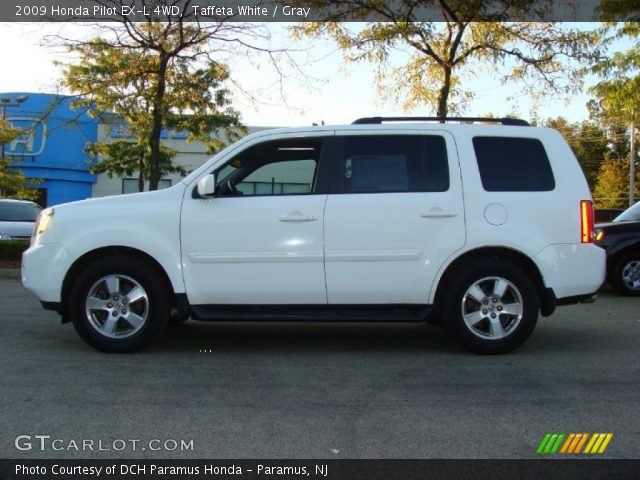 Taffeta White 2009 Honda Pilot Ex L 4wd Gray Interior Vehicle Archive 54964238