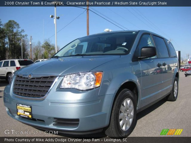 clearwater blue pearlcoat 2008 chrysler town country lx medium slate gray light shale. Black Bedroom Furniture Sets. Home Design Ideas