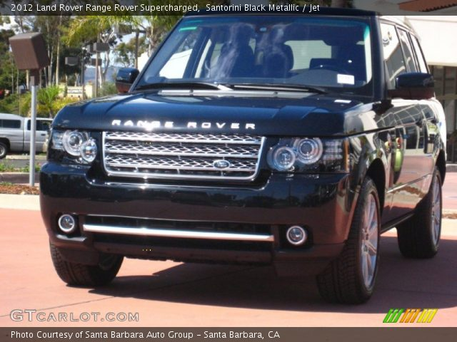 2012 Land Rover Range Rover Supercharged in Santorini Black Metallic