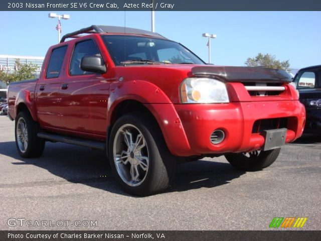 aztec red 2003 nissan frontier se v6 crew cab gray. Black Bedroom Furniture Sets. Home Design Ideas