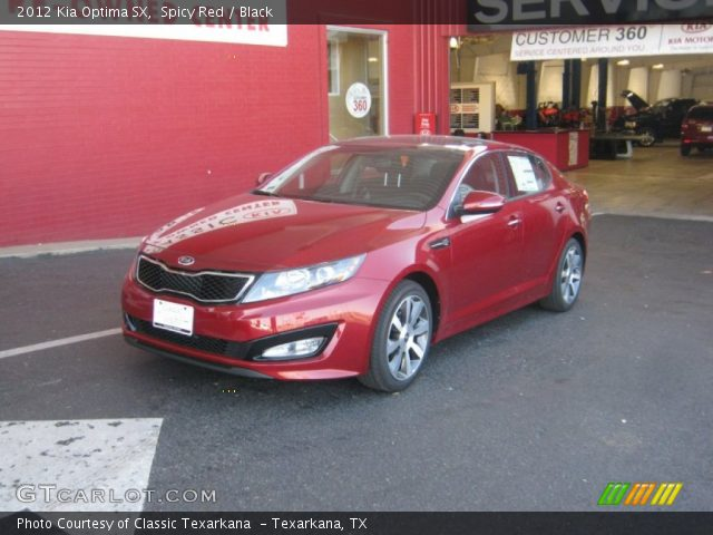 spicy red 2012 kia optima sx black interior gtcarlot. Black Bedroom Furniture Sets. Home Design Ideas
