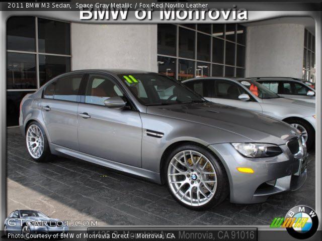 Space Gray Metallic - 2011 BMW M3 Sedan - Fox Red Novillo ...  Space Gray Meta...