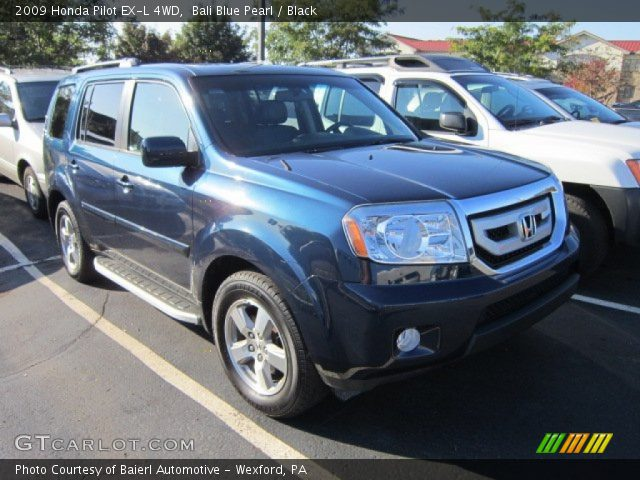 Bali Blue Pearl 2009 Honda Pilot Ex L 4wd Black Interior Vehicle Archive