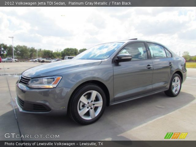 platinum gray metallic 2012 volkswagen jetta tdi sedan titan black interior. Black Bedroom Furniture Sets. Home Design Ideas