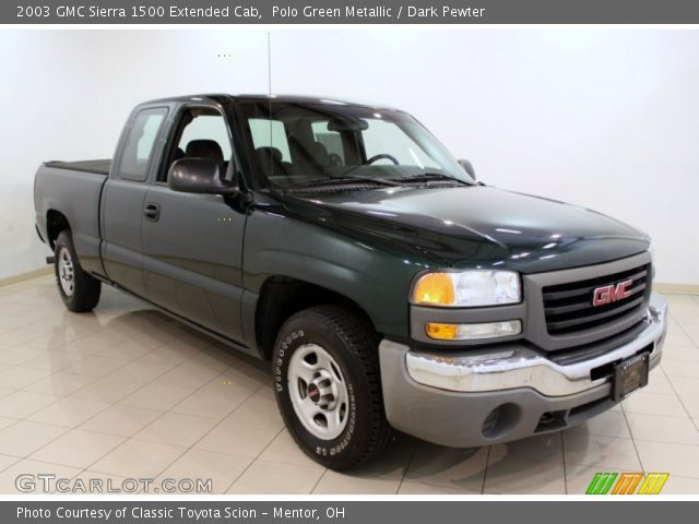 polo green metallic 2003 gmc sierra 1500 extended cab dark pewter interior. Black Bedroom Furniture Sets. Home Design Ideas