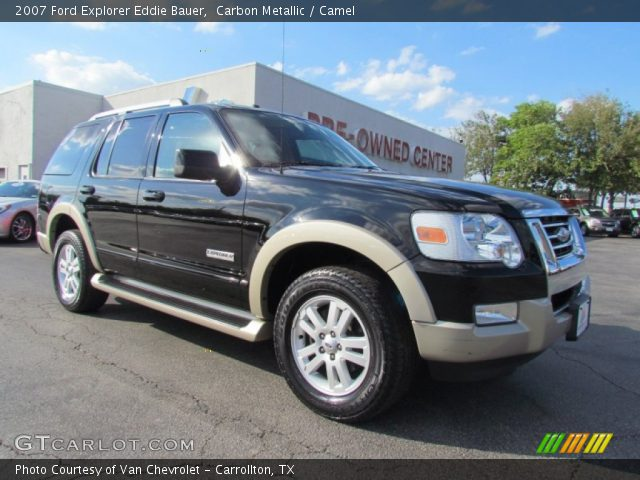 carbon metallic 2007 ford explorer eddie bauer camel interior vehicle. Black Bedroom Furniture Sets. Home Design Ideas