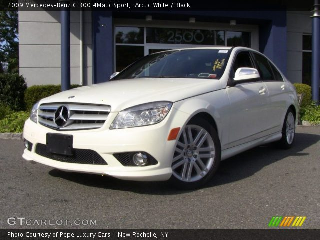 Arctic white 2009 mercedes benz c 300 4matic sport for 2009 mercedes benz c 300