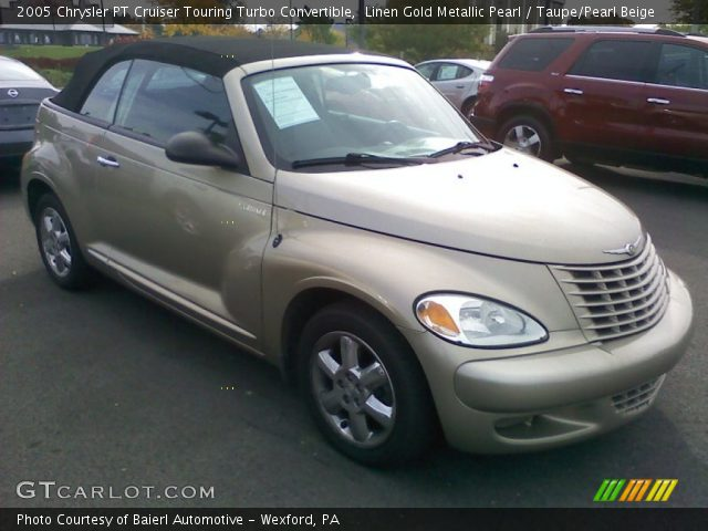 linen gold metallic pearl 2005 chrysler pt cruiser touring turbo convertible taupe pearl. Black Bedroom Furniture Sets. Home Design Ideas